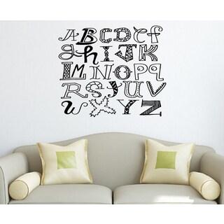 Merry alphabet Wall Art Sticker Decal