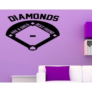 Just words Diamonds Are a Girl's Best Friend Wall Art Sticker Decal