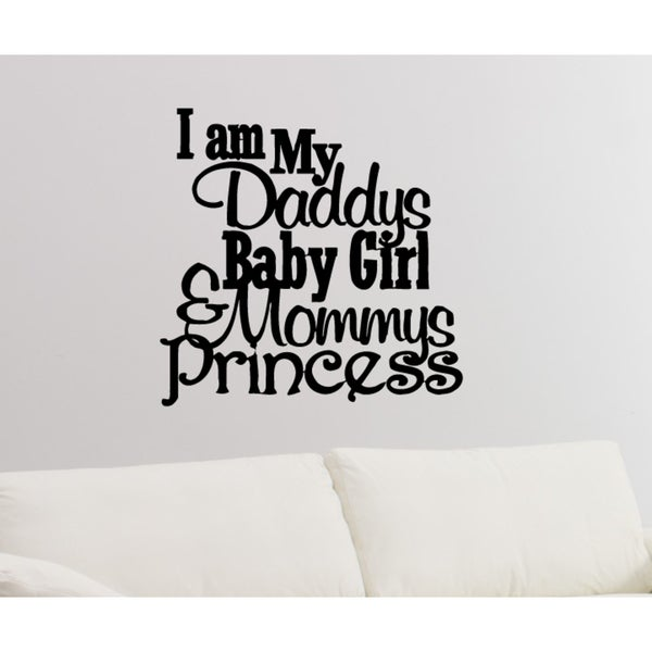Daddyu0026#x27;s Little Princess quote Wall Art Sticker Decal  sc 1 st  Overstock.com & Shop Daddyu0027s Little Princess quote Wall Art Sticker Decal - Free ...