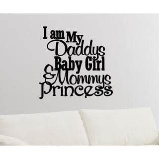 Shop Daddy S Little Princess Quote Wall Art Sticker Decal