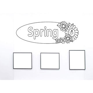 Spring flowers Wall Art Sticker Decal