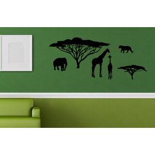Safari Wall Art Sticker Decal