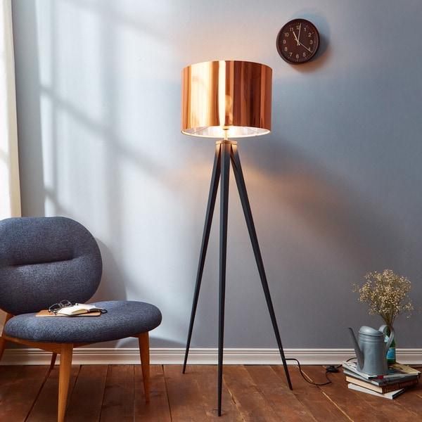 Versanora Romanza Tripod Floor Lamp with Copper Shade