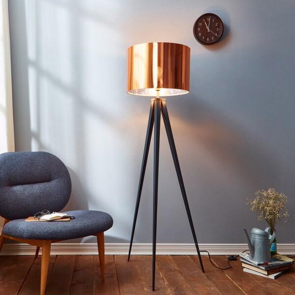 406097d33d6f Shop Versanora Romanza Tripod Floor Lamp with Copper Shade - On Sale ...