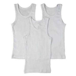 Boys' Undershirt 100-percent Cotton Tank Top (Pack of 3)