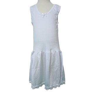 Rosette Girls' Anti-static White Classic Full Slip