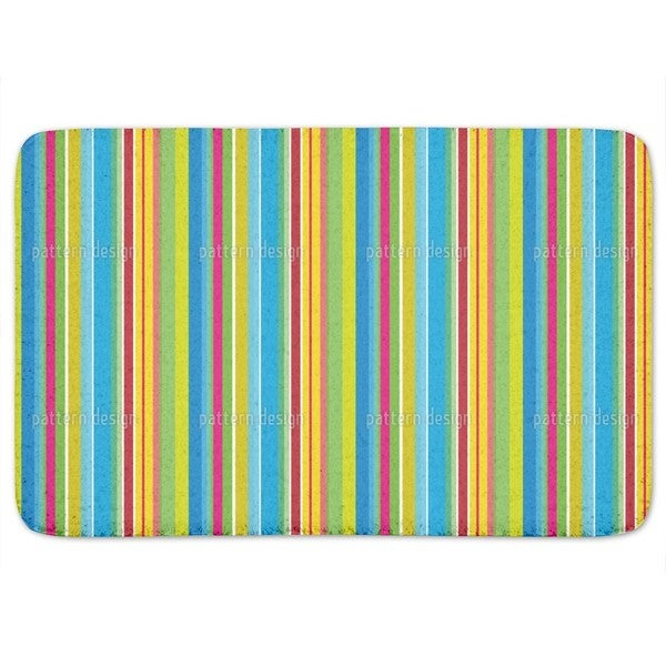 Fresh Stripes Bath Mat