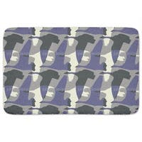 Flying Goose Mute Purple Bath Mat