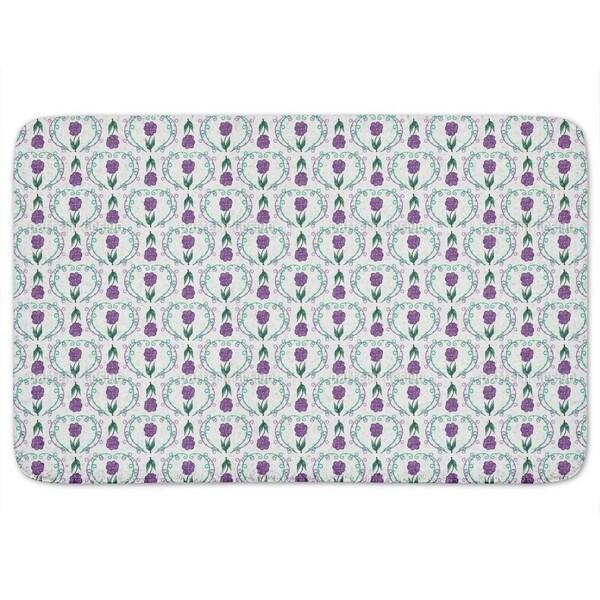 Flowers With Tendrils Bath Mat