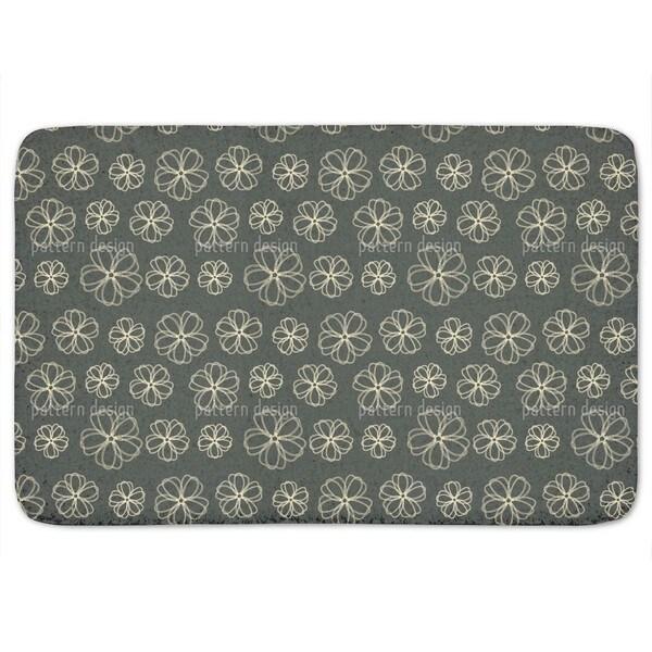 Flowers Pass Away Bath Mat