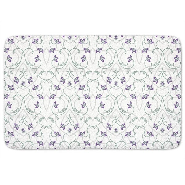 Flowers On The Gothic Gate Bath Mat