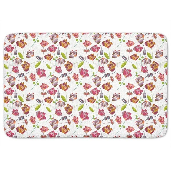 Flowers From Peru White Bath Mat