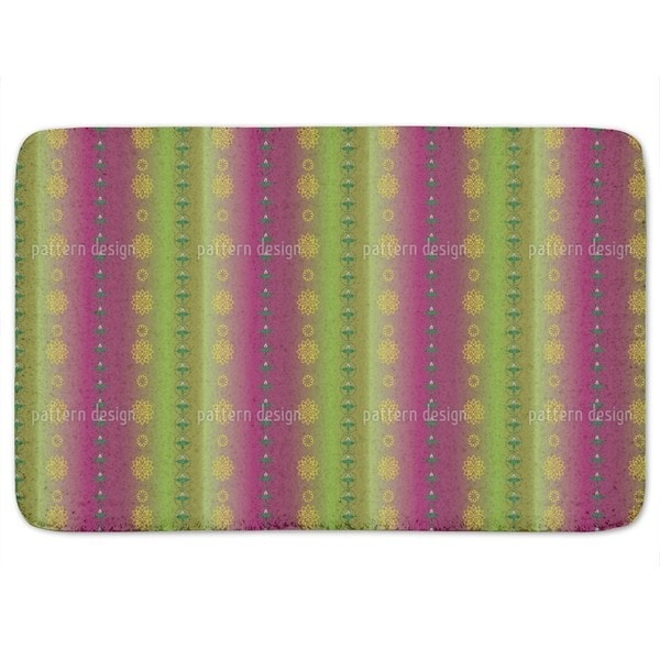 Flowers And Leaves Bath Mat