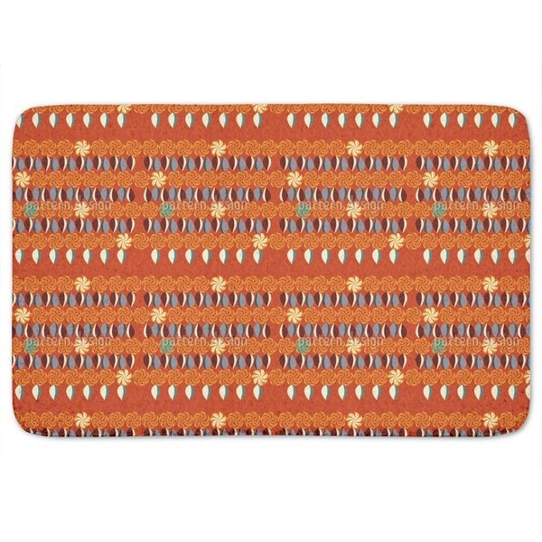 Floral Eight Times Table Bath Mat