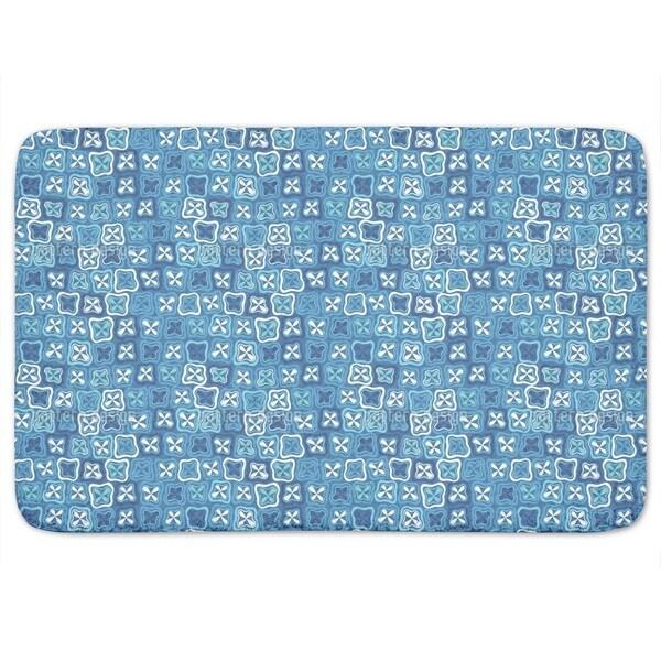 Floral Crossover Mosaic Bath Mat