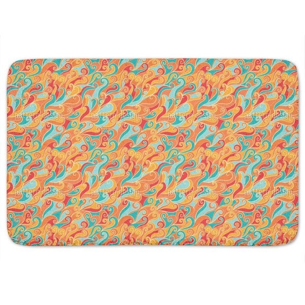 Fire And Ice Bath Mat