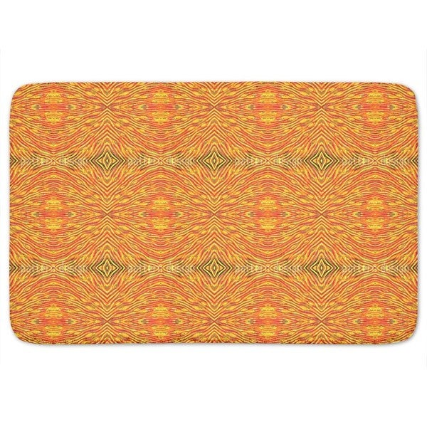 Fire And Flame Bath Mat