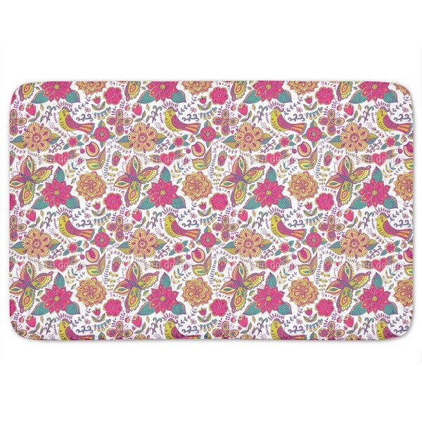 Fauna And Flora Are In Love Bath Mat