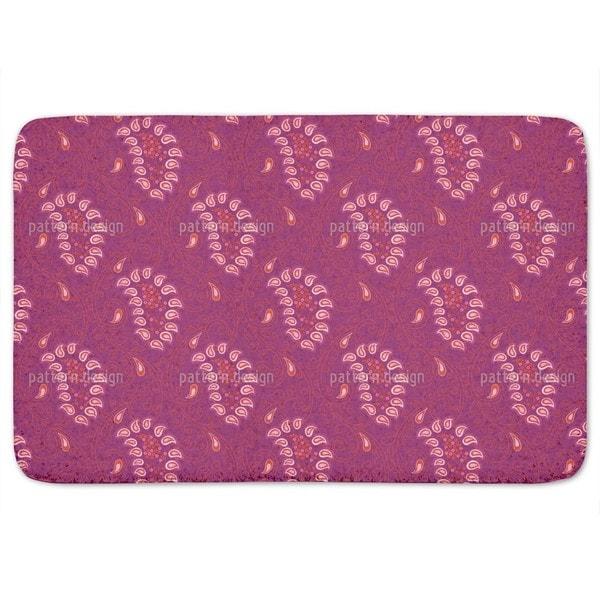 Exotic Tendrillars Purple Bath Mat