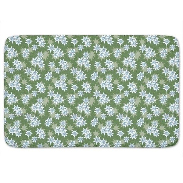 Edelweiss Green Bath Mat