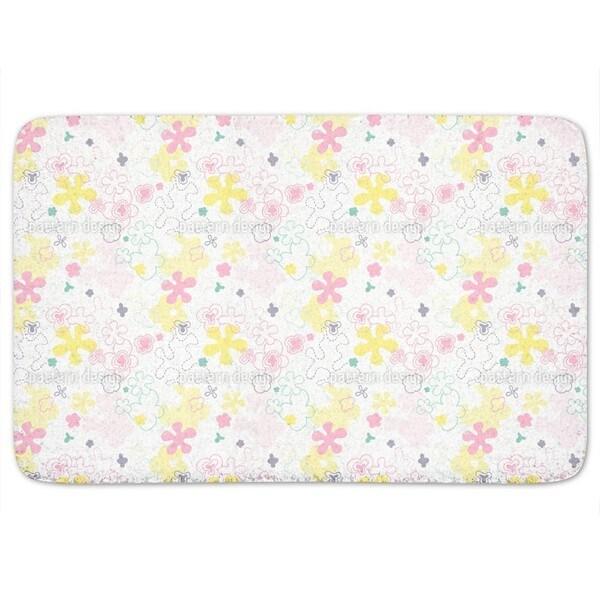 Dream Flower Garden Bath Mat
