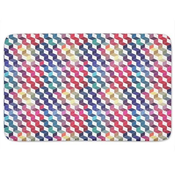 Dimension Of Stacked Squares Bath Mat