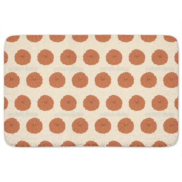Decorative Gourd Orange Bath Mat