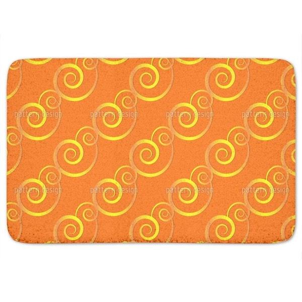 Curly Gold Bath Mat