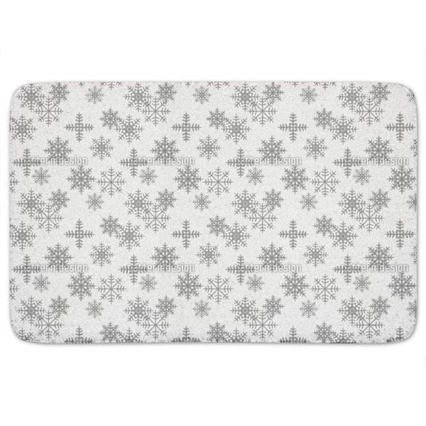 Crystals White Bath Mat