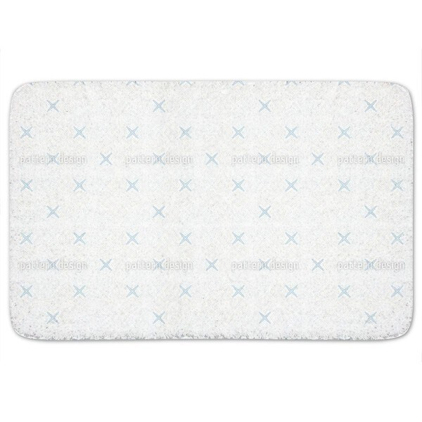 Cross Coordinates Bath Mat
