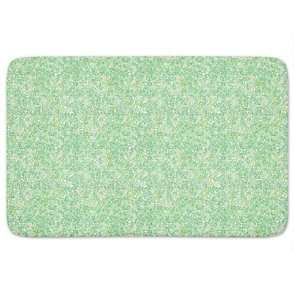 Covered With Leaves Bath Mat