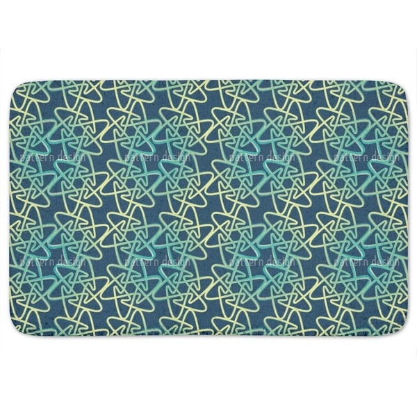 Cool Rounded Stars Bath Mat