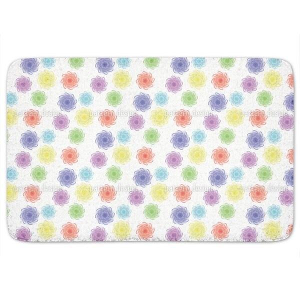Colorful Floral Bath Mat