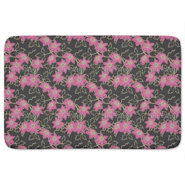 Clematis Dream Garden At Night Bath Mat