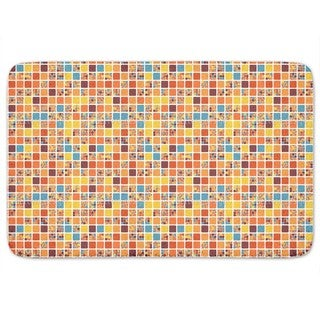 City Blocks In Summer Bath Mat