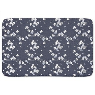 Cherry Blossoms At Night Bath Mat