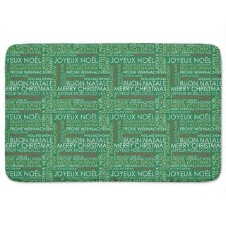 Christmas Greetings Bath Mat