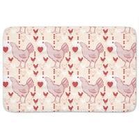 Chicken With Heart Bath Mat