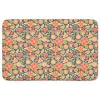 Cheerful Garden Folklore Bath Mat