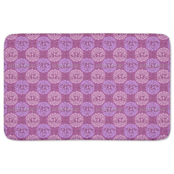 Calm Wood Purple Bath Mat