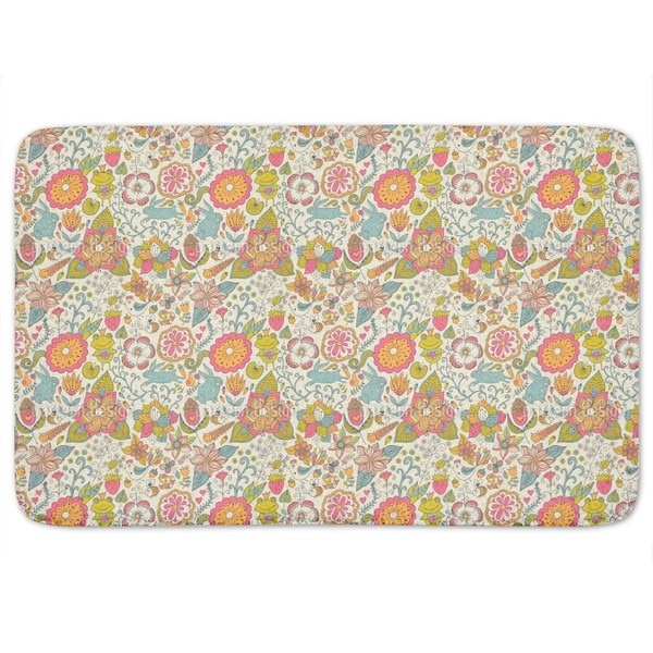 Bunny In Marchengarten Bath Mat