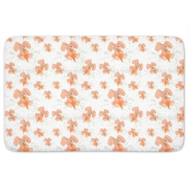 Bunnies Love Carrots Bath Mat