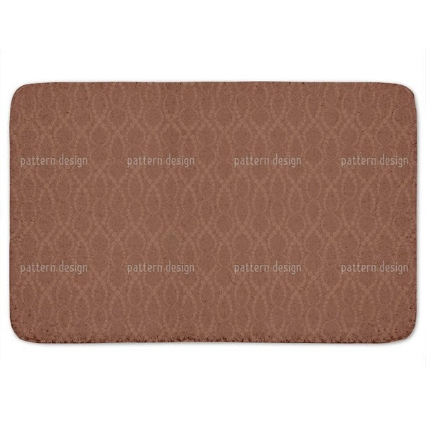 Brown Pearls Bath Mat