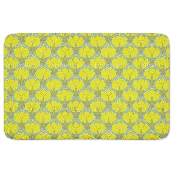 Blooming Cornelian Cherries Bath Mat