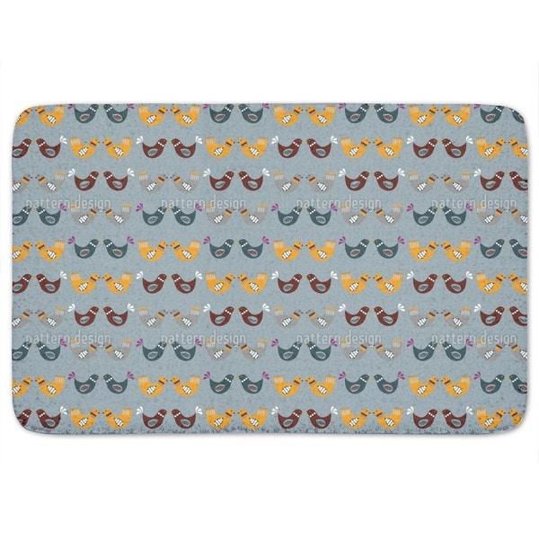 Bird Wedding Bath Mat