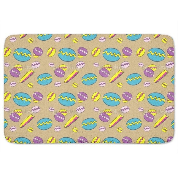 Beach Fun Blue Bath Mat