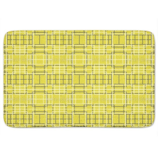 Asian Lattice Yellow Bath Mat