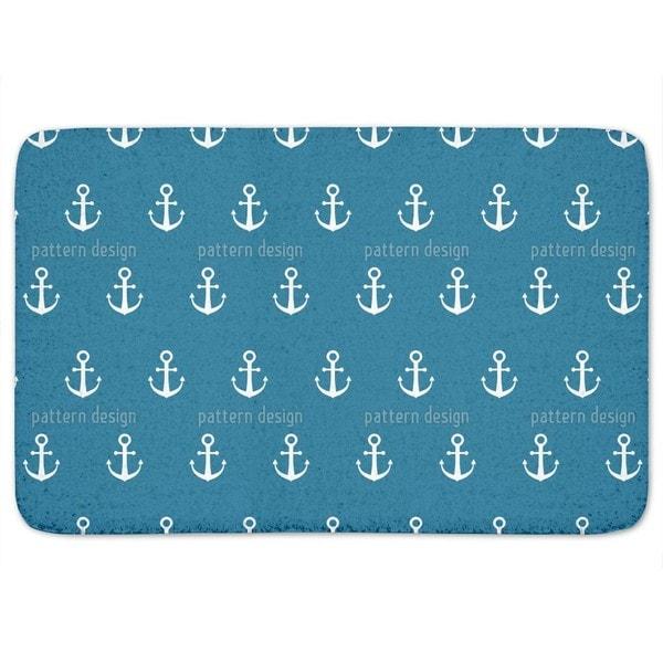 Anchor Ahoy Bath Mat