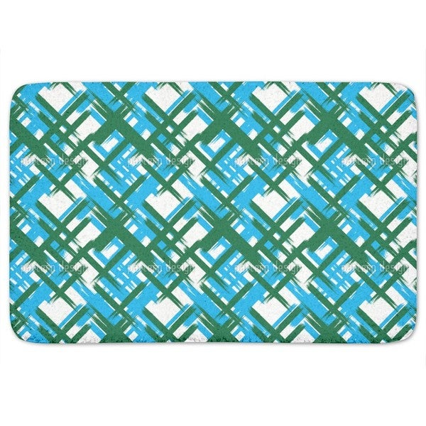Abstract Tartan Bath Mat