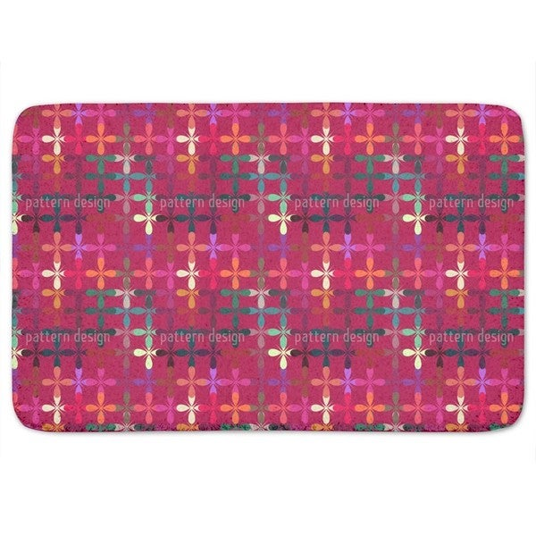Abstract Flowerbed Bath Mat